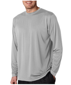 Baseball Grey Dry Fit<br>Long Sleeve T