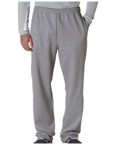 Baseball Grey Sweat Pant<br>Open Bottom