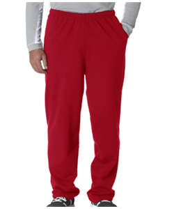 Baseball Red Sweat Pant<br>Open Bottom