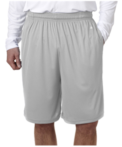 Baseball Grey Youth Shorts<br>No Pocket