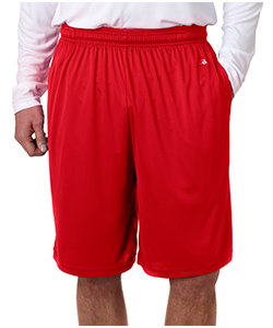 Soccer Red Adult Shorts<br>w/ Pocket