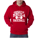 Baseball Red Hooded Sweatshirt