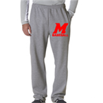 Baseball Grey Sweat Pant Open Bottom