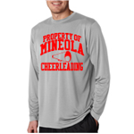 Cheer Grey Dry Fit Long Sleeve T