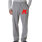 Cheer Grey Sweat Pant Open Bottom