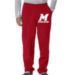 Cheer Red Sweat Pant Open Bottom