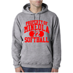 Softball Grey Hooded Sweatshirt