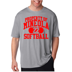 Softball Grey Dry Fit Short Sleeve T