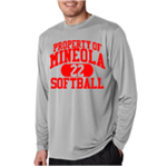 Softball Grey Dry Fit Long Sleeve T