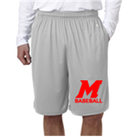 Baseball Grey Youth Shorts No Pocket