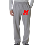 Softball Grey Sweat Pant Open Bottom