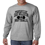 EW Softball Grey Long-Sleeve Performance Loose Tee