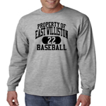 EW Baseball Grey Long-Sleeve  Performance Loose Tee