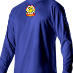 Centennial Royal Workout Shirt Longsleeve  (Patch Center Top)