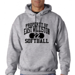 EW Softball Grey Hooded Sweatshirt