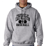 EW Baseball Grey  Hooded Sweatshirt