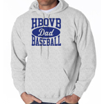 HBQVB Baseball Grey Sweatshirt