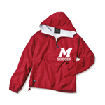 Soccer Classic Solid Pullover Red Jacket