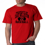 EW Baseball Red  T-Shirt