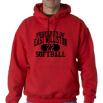EW Softball Red Hooded Sweatshirt