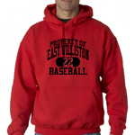 EW Baseball Red  Hooded Sweatshirt