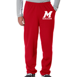 Soccer Red Sweat Pant Open Bottom